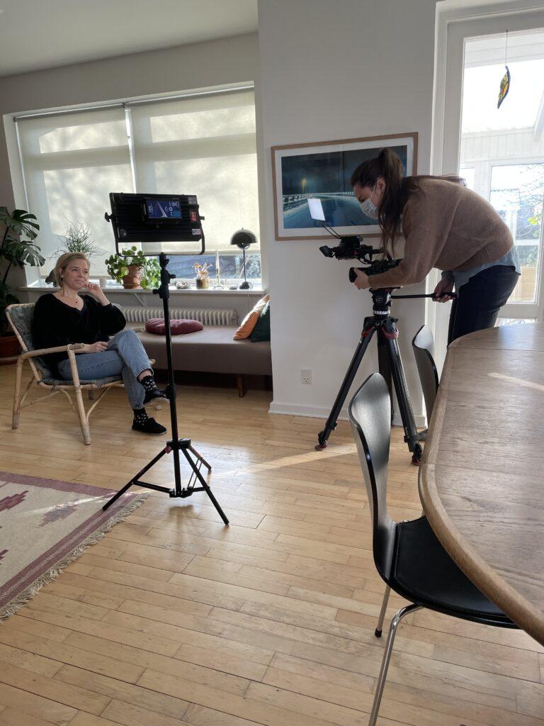 Billeder fra min TV optræden om cyklus